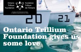 Ontario Trillium Foundation gives us some love